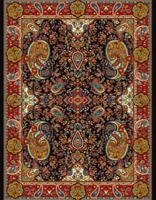 فرش عشایری کد AB086،توس مشهد،سرمه ای