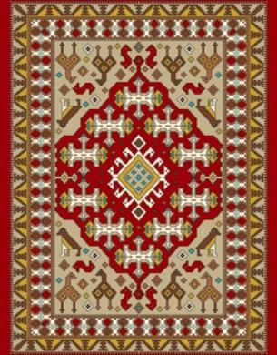 فرش عشایری کد AB088،توس مشهد،لاکی2