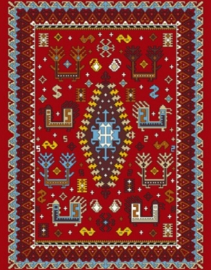 فرش عشایری کد AB089،توس مشهد،لاکی روشن