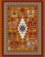 فرش عشایری کد AB089،توس مشهد،آجری