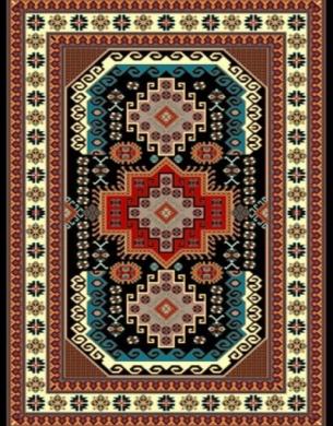 فرش عشایری کد AB090،توس مشهد،سرمه ای