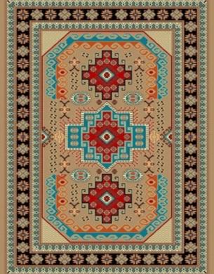 فرش عشایری کد AB090،توس مشهد،گردویی