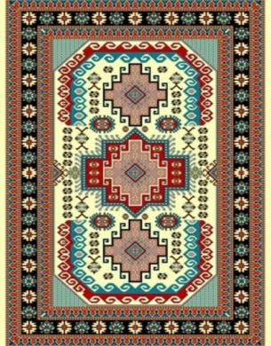 فرش عشایری کد AB090،توس مشهد،کرم