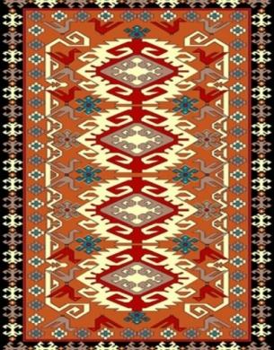 فرش عشایری کد AB091،توس مشهد،آجری