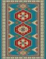 فرش عشایری کد AB092،توس مشهد،آبی فیروزه ای2