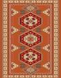 فرش عشایری کد AB092،توس مشهد،آجری2