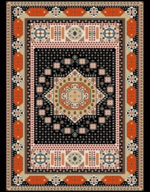 فرش عشایری کد AB093،توس مشهد،سرمه ای