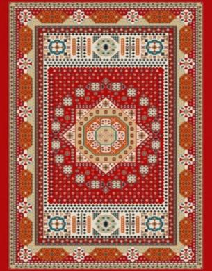 فرش عشایری کد AB093،توس مشهد،لاکی