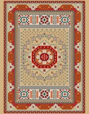 فرش عشایری کد AB093،توس مشهد،شکلاتی