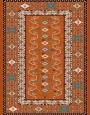 فرش عشایری کد AB094،توس مشهد،آجری