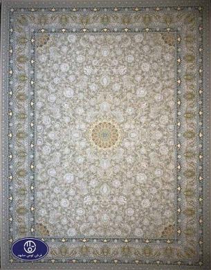 فرش ماشینی 1200 شانه طرح آیلار بژ