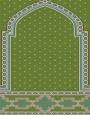 فرش سجاده ای طرح رویا سبز روشن - 06