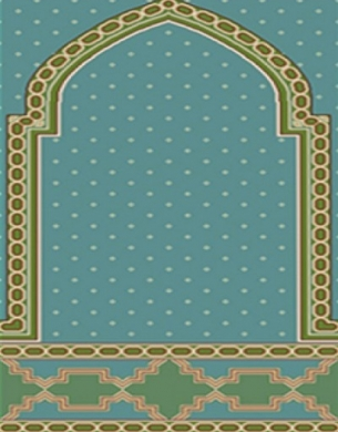 فرش سجاده ای طرح رویا آبی روشن - 07