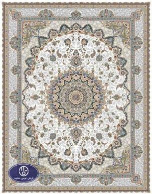 فرش گل برجسته1000 شانه،توس مشهد،کرم 8053