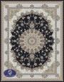 فرش گل برجسته1000 شانه،توس مشهد،سرمه ای 8054