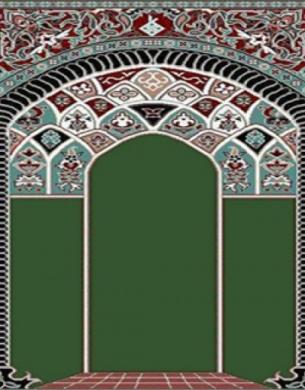 فرش سجاده ای طرح آفاق سبز زمینه ساده - 01