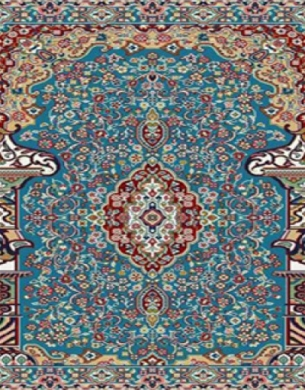 فرش سجاده ای طرح حسنا آبی فیزوزه ای - 03