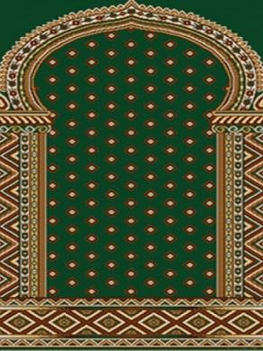 فرش سجاده ای طرح خاطره سبز تیره - 03