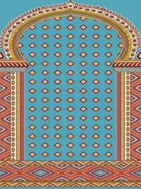 فرش سجاده ای طرح خاطره آبی - 08