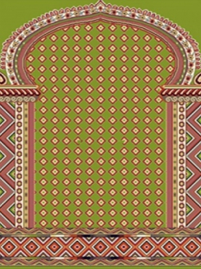 فرش سجاده ای طرح خاطره سبز روشن - 04