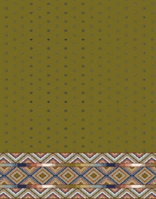 prayer carpet, Sahel pattern, green