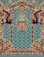 فرش سجاده ای طرح تسنیم آبی - 04