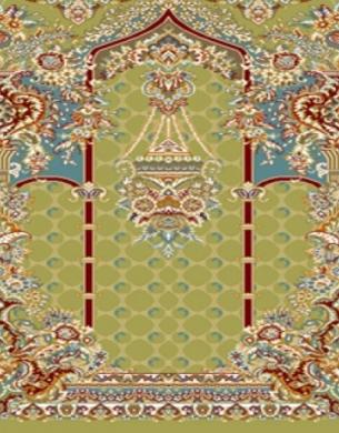 فرش سجاده ای طرح تسنیم سبز - 05