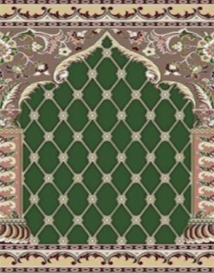 فرش سجاده ای طرح ثریا سبز - 04