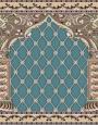 فرش سجاده ای طرح ثریا آبی فیروزه ای - 05