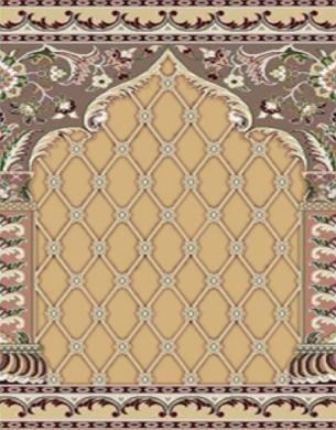 فرش سجاده ای طرح ثریا شکلاتی - 06
