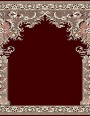 فرش سجاده ای طرح زهره زرشکی روشن - 06