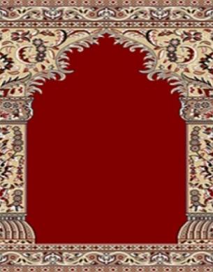 فرش سجاده ای طرح زهره قرمز تیره - 05