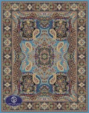 فرش ماشینی هزار شانه تراکم 3000 طرح پیمان,توس مشهد,آبی فیروزه ای
