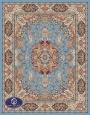 فرش ماشینی 1000 شانه طرح پرستش,فرش توس مشهد,آبی