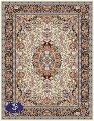 فرش ماشینی 1000 شانه طرح پرستش,فرش توس مشهد,کرم