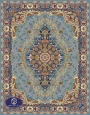 فرش ماشینی هزار شانه تراکم 3000 طرح پردیس,توس مشهد,آبی فیروزه ای