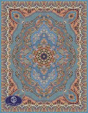 فرش ماشینی 1000 شانه تراکم 3000 طرح پارسا,توس مشهد,آبی فیروزه ای