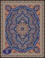 فرش ماشینی 1000 شانه تراکم 3000 طرح پارسا,توس مشهد,آبی کاربنی