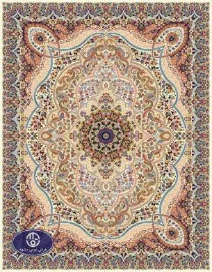 فرش ماشینی 1000 شانه تراکم 3000 طرح پارسا,توس مشهد,کرم