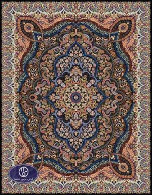 فرش ماشینی 1000 شانه تراکم 3000 طرح پارسا,توس مشهد,سورمه ای