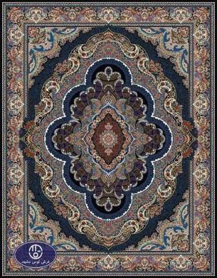 فرش ماشینی 1000 شانه طرح پاشا,توس مشهد,سورمه ای