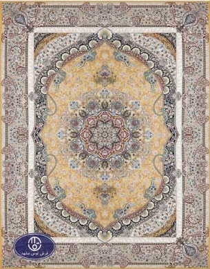 فرش 1500 شانه کد 1516, توس مشهد,زرد