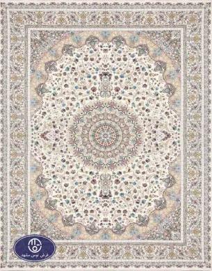 فرش 1500 شانه کد 1519,توس مشهد,کرم