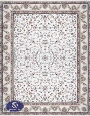 فرش 1500 شانه کد 1525 توس مشهد,سفید