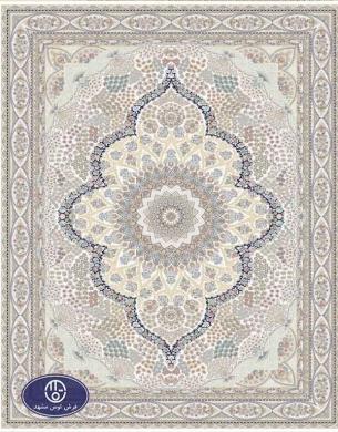 فرش 1500 شانه کد 1527 توس مشهد,سفید