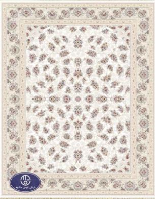 فرش 1500 شانه کد 1534 فرش توس مشهد,سفید