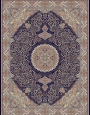 700reeds machine made carpet, Gelare pattern, navy blue,