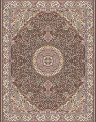 700reeds machine made carpet, Gelare pattern, brown
