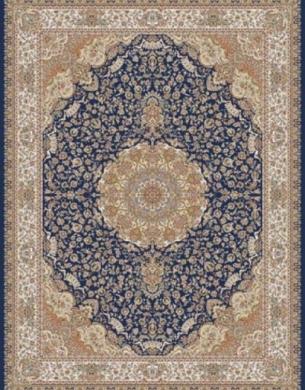 700reeds machine made carpet, Gita pattern, navy blue