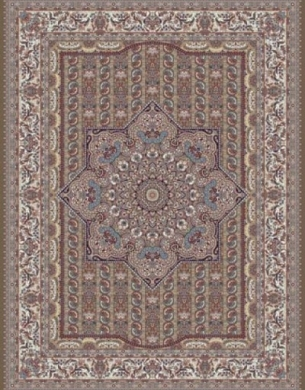 فرش 500 شانه طرح گل یاس تراکم 1000 گردوئی - gol-yas-g